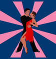 salsa dancing couple man and woman in vector image vector image