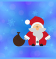 santa claus on the background vector image