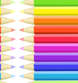 Seamless background of colored crayons vector image