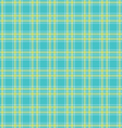 Seamless Green tartan pattern vector image