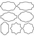 set blank vintage frame badges and labels vector image vector image