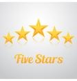 set gold stars icon five stars icon vector image