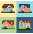 Set of house icons or symbols Flat design vector image vector image