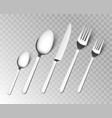 silverware fork spoon cutlery isolated vector image vector image