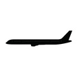 Single long aircraft silhouette vector image vector image