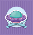 spaceship icon image vector image vector image
