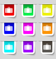 suitcase icon sign Set of multicolored modern vector image vector image