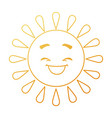 summer sun happy kawaii character vector image vector image