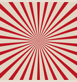 sun rays red background vector image