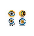 surveillance camera template set vector image