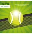 tennis ball green background design vector image vector image