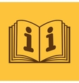The open book icon Manual and tutorial vector image