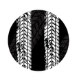 Tire tracks grunge circle vector image vector image