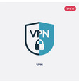 two color vpn icon from technology concept vector image vector image
