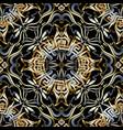 vintage greek floral 3d seamless pattern vector image vector image