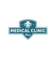 vintage medical clinic logo vector image