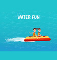 water fun inflatable transport poster vector image vector image