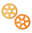 wheel pasta icon cartoon style vector image