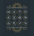 zodiac icon collection sacred symbols set vector image vector image