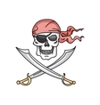 Jolly roger icon vector image