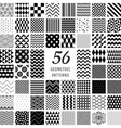 56 Geometric Seamless Patterns vector image vector image