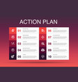 action plan infographic 10 option template