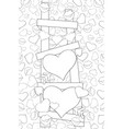 adult coloring bookpage a cute stair full of vector image vector image