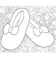 adult coloring bookpage a pair of boots on the vector image vector image