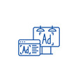 advertising line icon concept advertising flat vector image