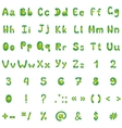 alphabet figures and signs vector image