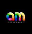 am a m alphabet letter mosaic design vector image vector image