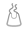 baby boy shower bib accessory design icon vector image