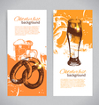 Banners of Oktoberfest beer design vector image