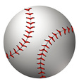 Baseball in simple design vector image