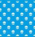 big shell pattern seamless blue vector image vector image