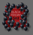 black friday sale banner low poly vector image