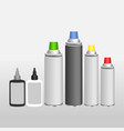 blank aluminium spray can and oil for chain vector image