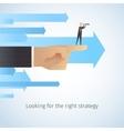 Businessman shaking hands with arrowsbusinessman vector image vector image