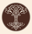 celtic tree of life vector image