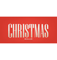 christmas sale banner vector image vector image