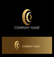 circle curve technology gold logo vector image vector image