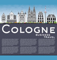cologne skyline with gray buildings blue sky and vector image vector image