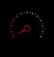 credit score speedometer vector image