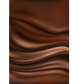 dark chocolate waves background vector image vector image