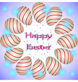 easter eggs circle red lines vector image vector image