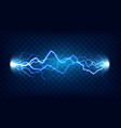 electric discharge shocked effect for design vector image