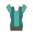 elegant businesswoman dress icon vector image vector image