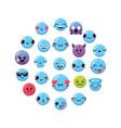 emoji emtion expresion backgroun design vector image