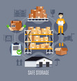 flat warehouse composition vector image vector image