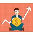 Foreign Exchange Market Appreciation of Dollar vector image